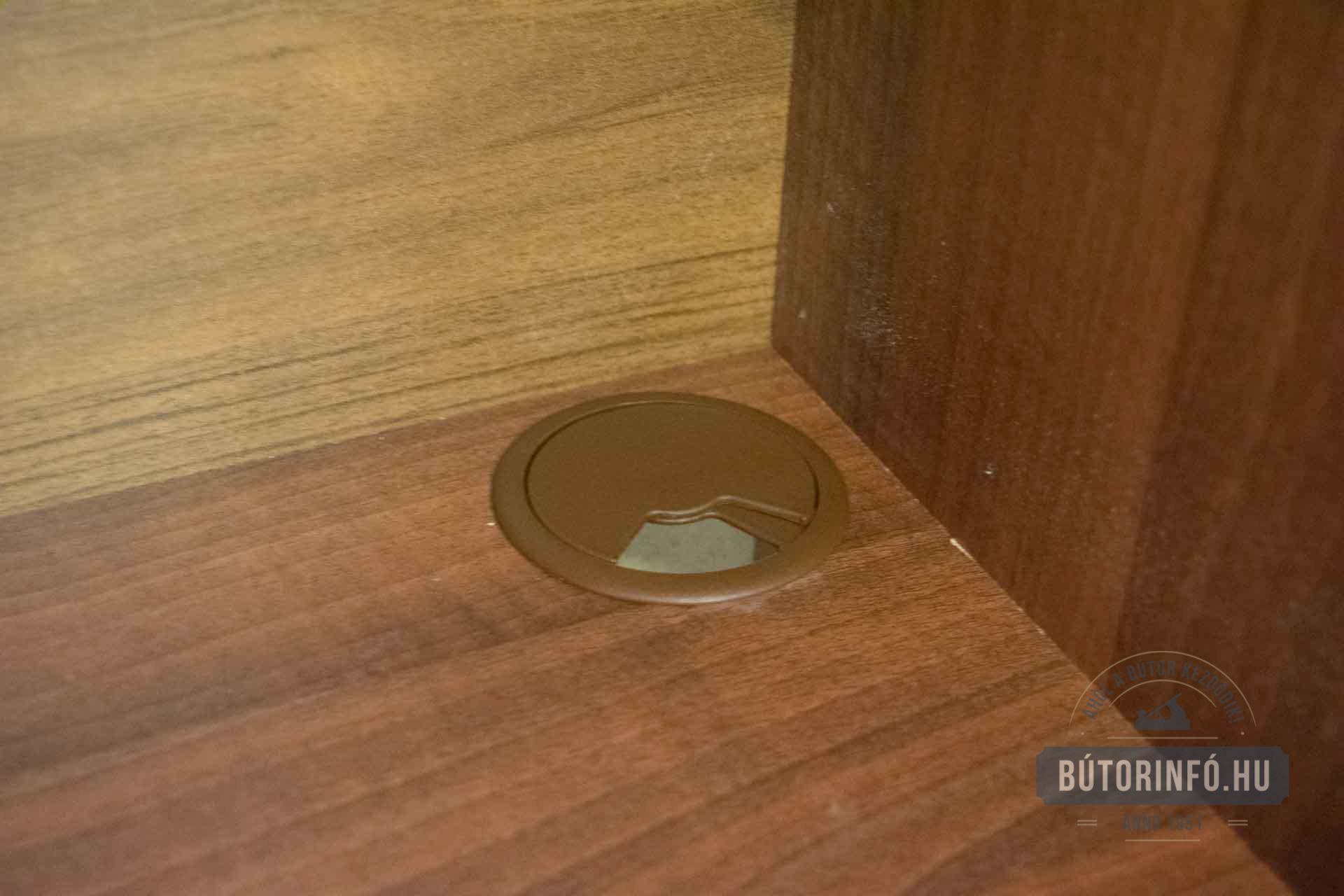 Bútor kábelátvezető beépítése házilag