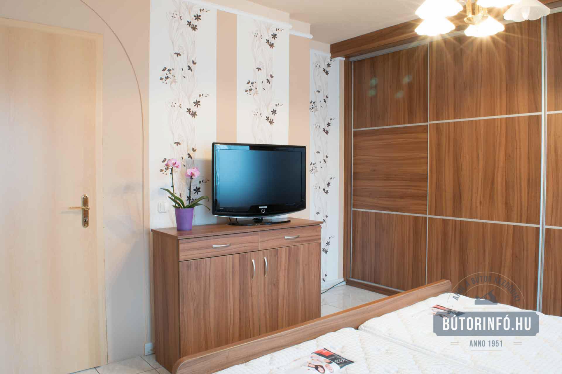 Elegáns Modern Szoba Bútor, Komód és Ágy