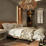 Hállószoba bútor, ágy, polcok