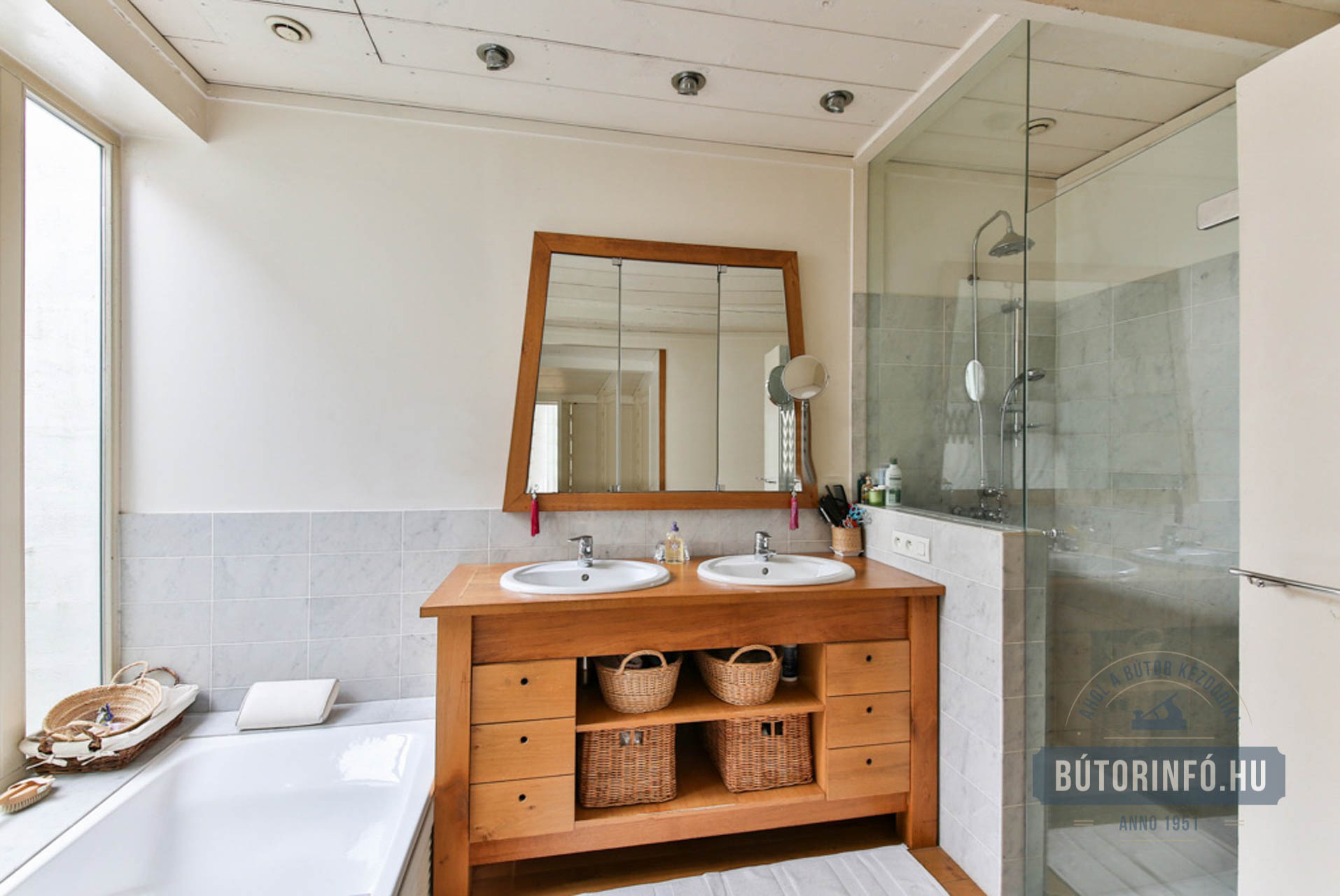 Tömörfa fürdőszoba bútor 2016 1