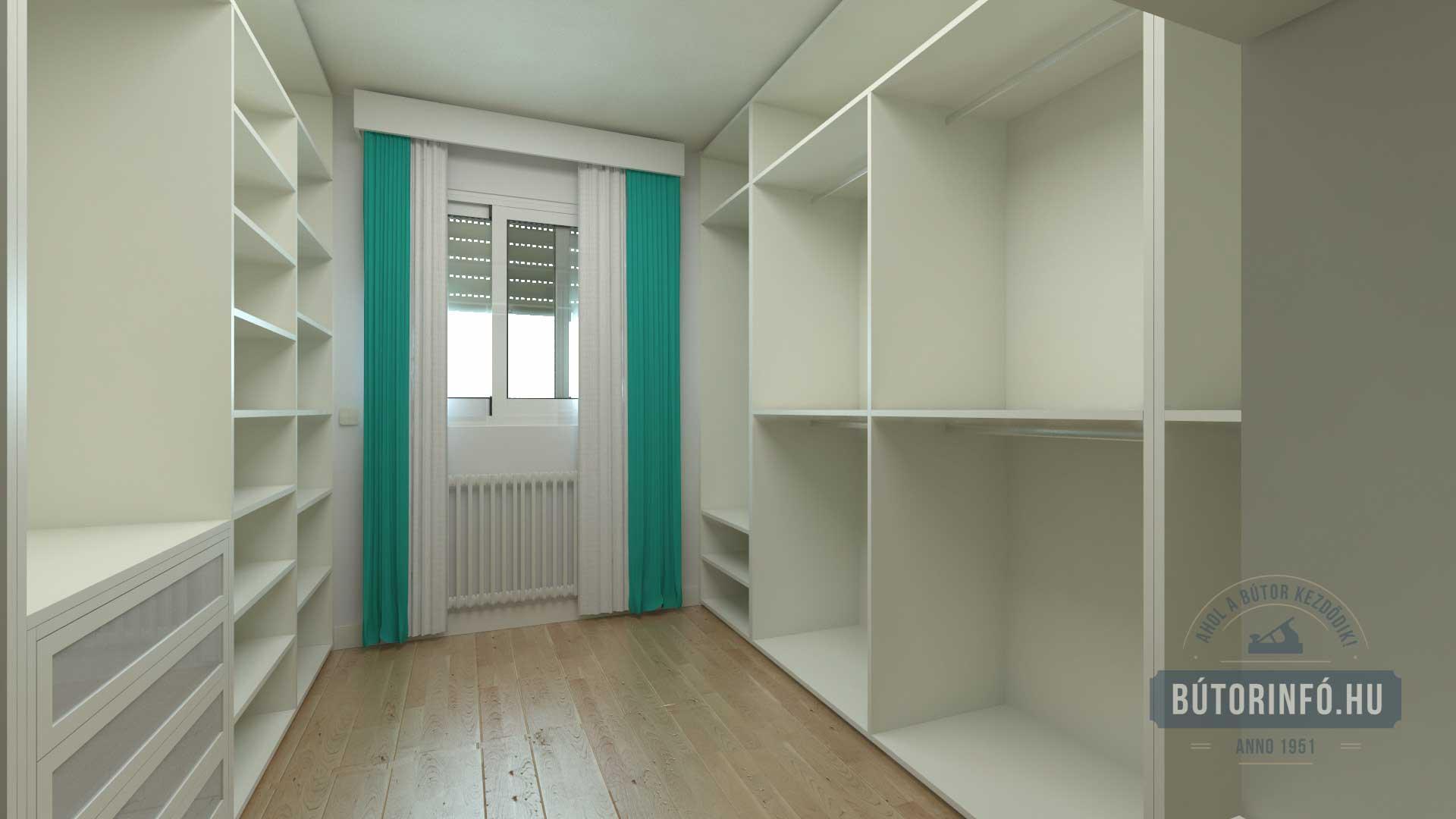 Gardróbszekrény, gardrób szoba kialakítása